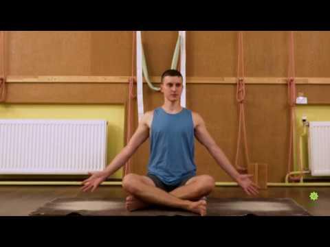 йогатерапия колени локти