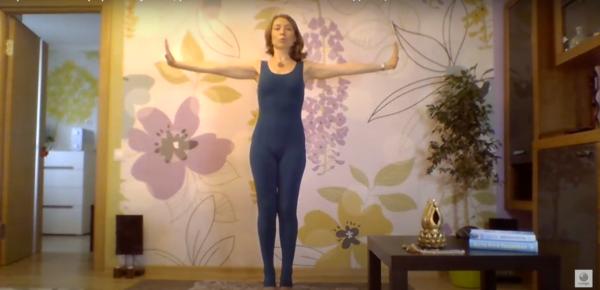 йога стопы баланс